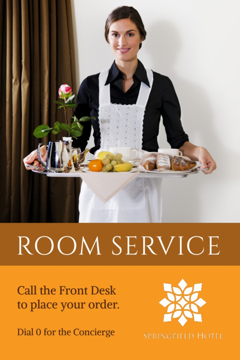 Hotel Room Service Table Tent Template Preview 2