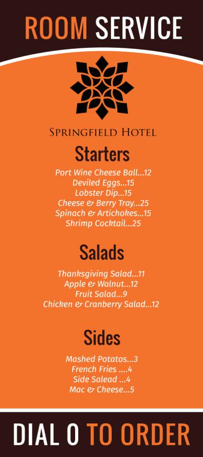 Hotel Room Service Menu Template Preview 1