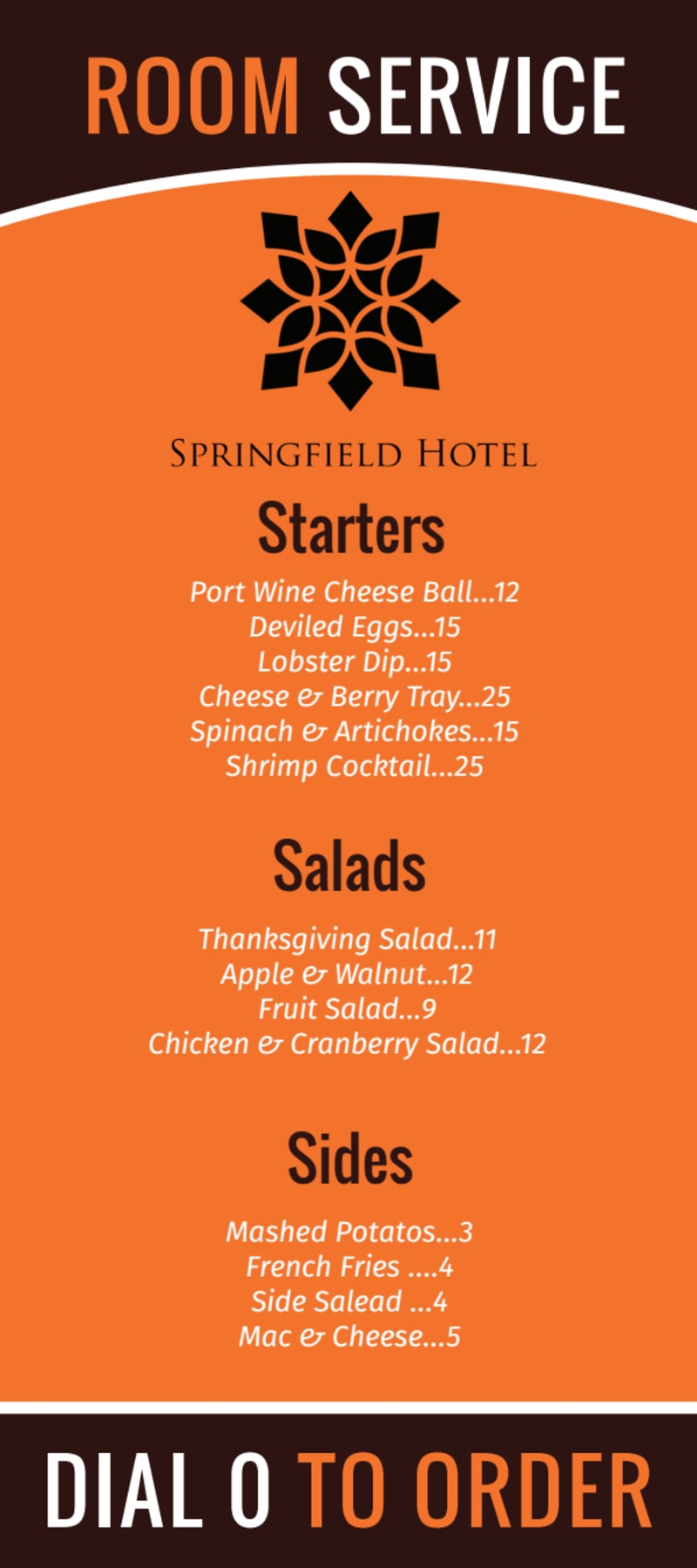 Hotel Room Service Menu Template Preview 2