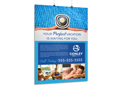 Travel Agent Vacation Poster Template preview
