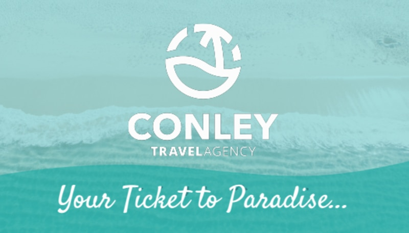 Beach Travel Agent Business Card Template Preview 3