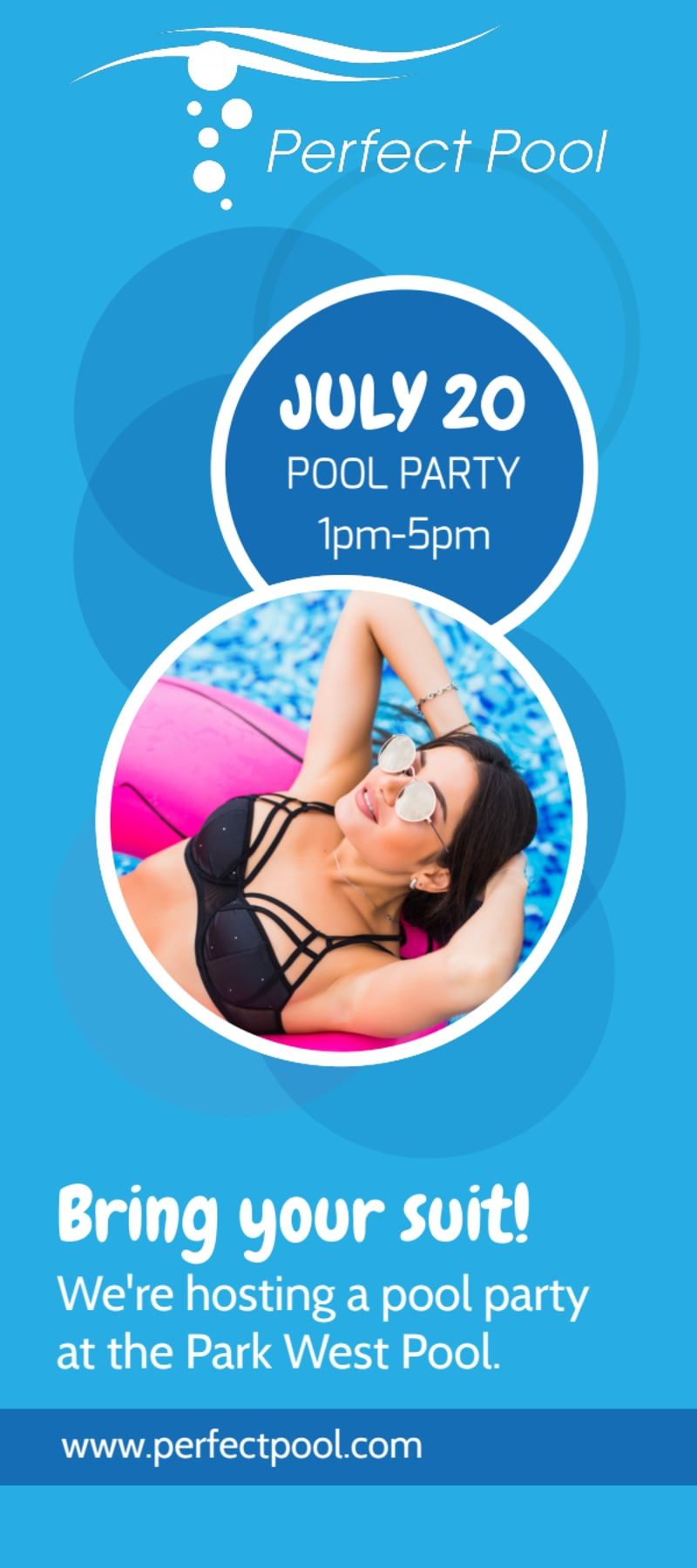 Pool Party Event Flyer Template Preview 2
