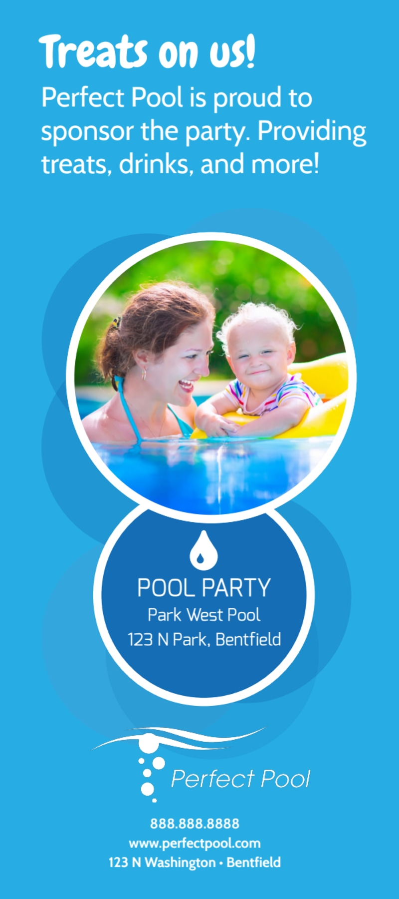 Pool Party Event Flyer Template Preview 3