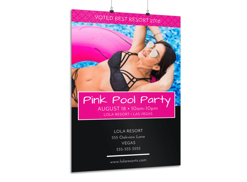 Pink Pool Party Poster
