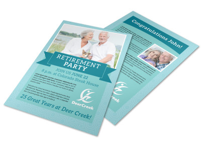 Special Retirement Party Flyer Template preview