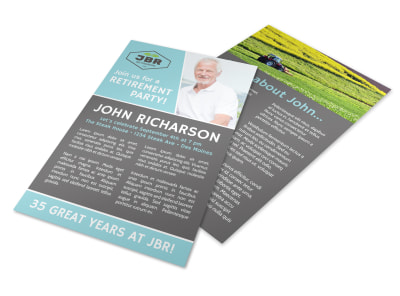 Work Retirement Party Flyer Template preview
