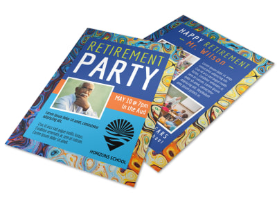 Colorful Retirement Party Flyer Template preview