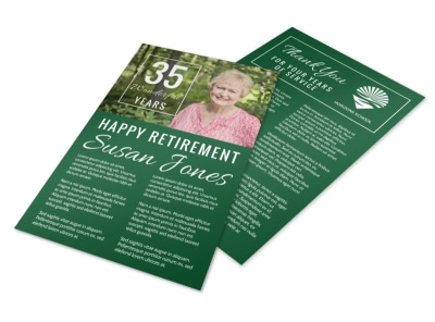 Happy Retirement Party Flyer Template preview