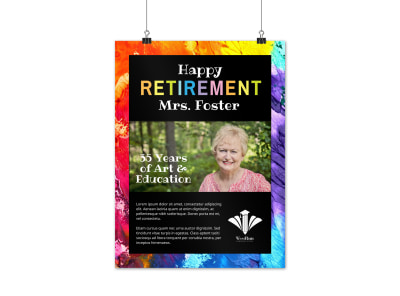 Happy Retirement Poster Template preview