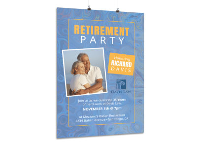 Fun Retirement Party Poster Template preview