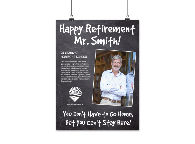 Happy Retirement Party Poster Template Preview 1