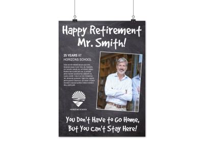 Happy Retirement Party Poster Template preview