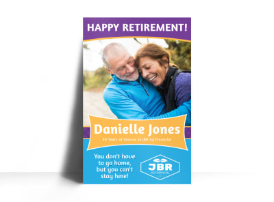 Classic Happy Retirement Party Poster Template preview