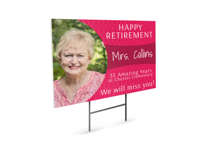 Happy Retirement Party Yard Sign Template