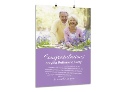 Beautiful Retirement Party Poster Template