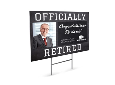 Retirement Party Yard Sign Template
