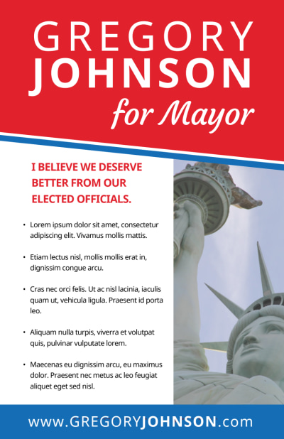 Campaign For Mayor Flyer Template Preview 2