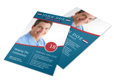Campaign City Council Flyer Template