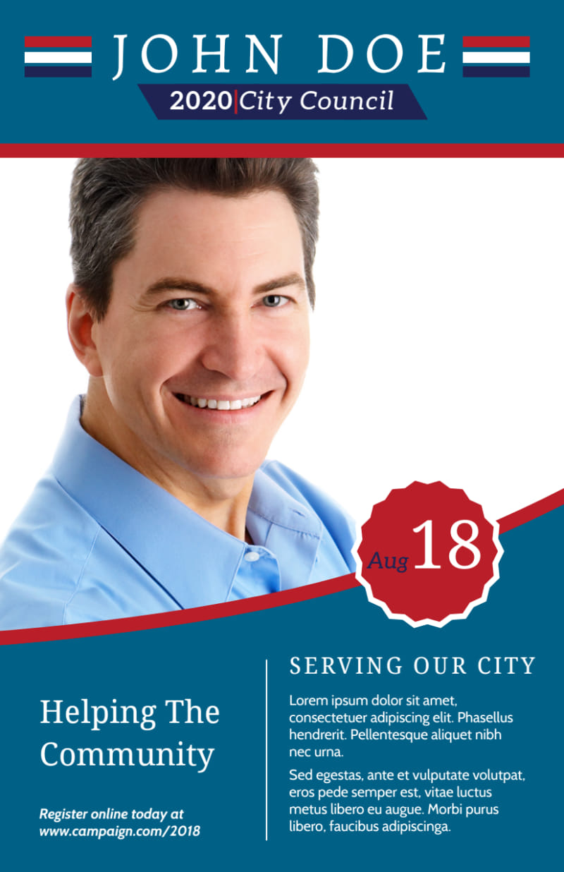 Campaign City Council Flyer Template Preview 2