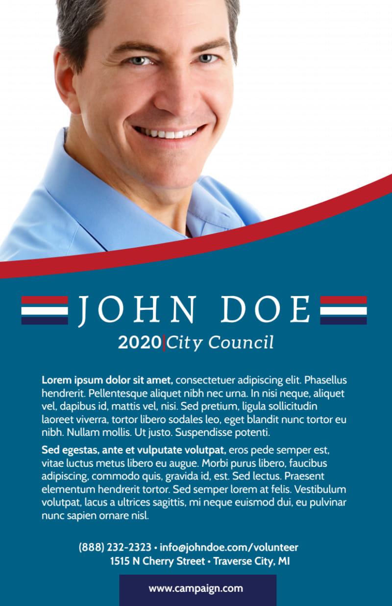 Campaign City Council Flyer Template Preview 3