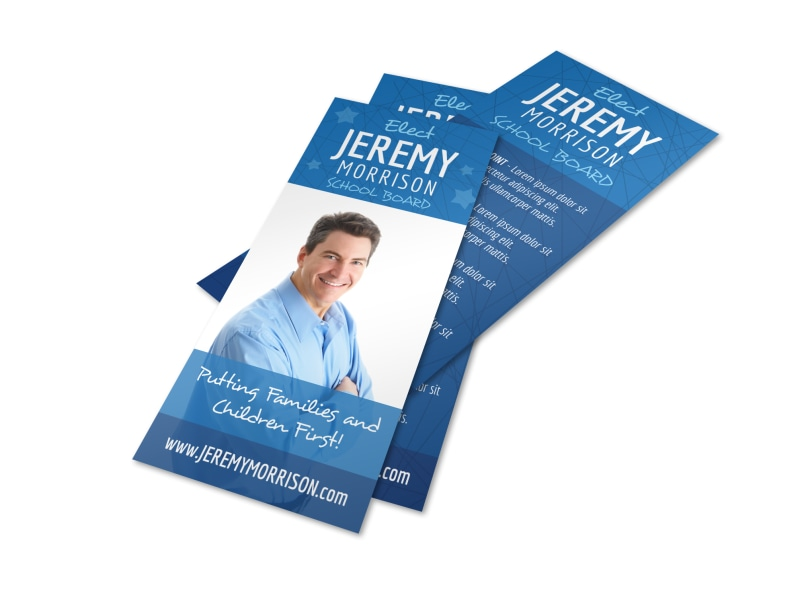 Campaign School Board Flyer Template Preview 4