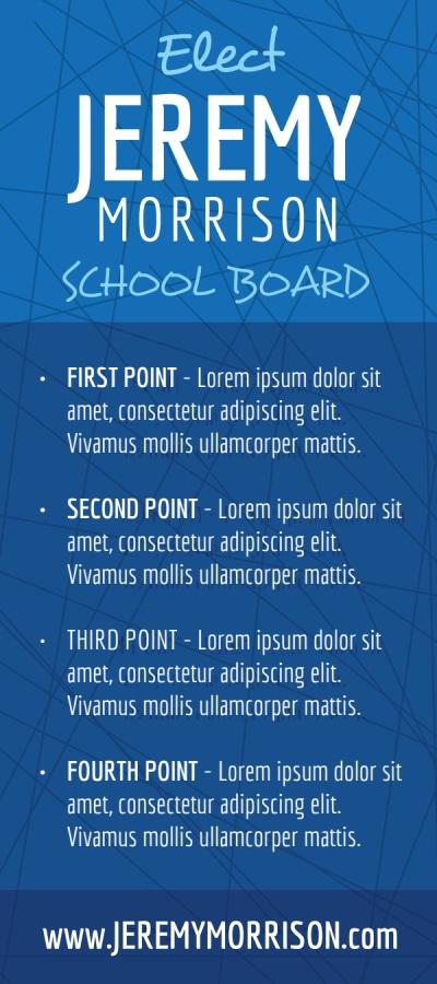 Campaign School Board Flyer Template Preview 2