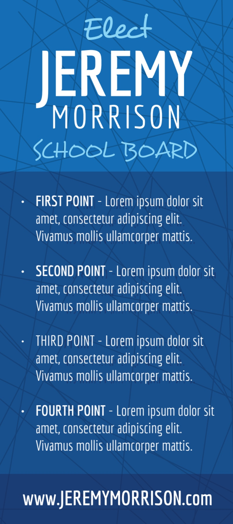 Campaign School Board Flyer Template Preview 3