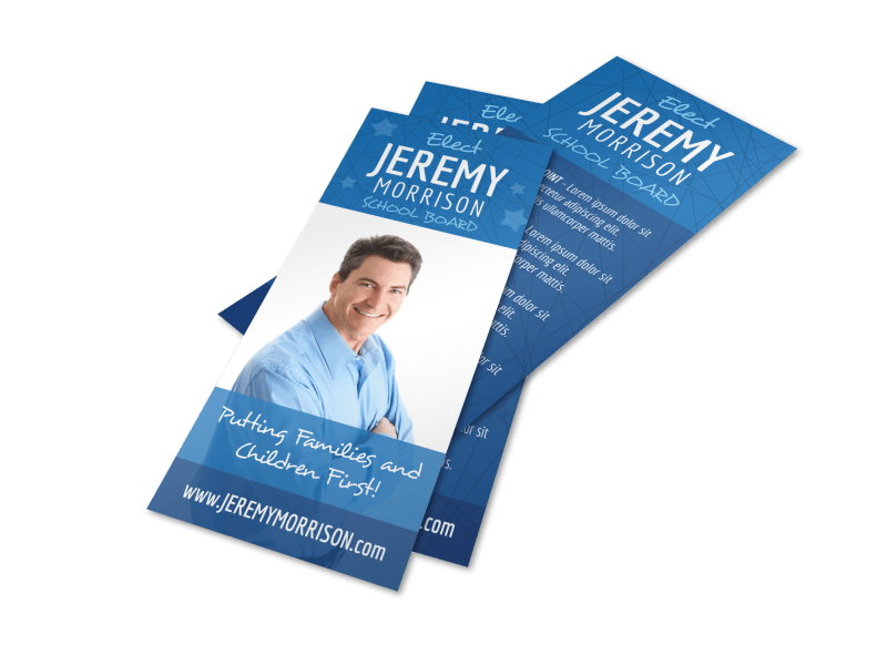 Campaign School Board Flyer Template Preview 1