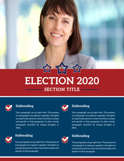 Campaign Informational Flyer Template Preview 1