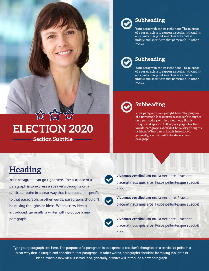 Campaign Informational Flyer Template Preview 3