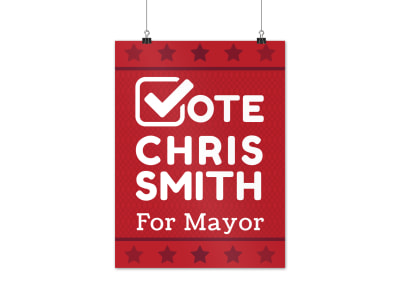 Campaign For Mayor Poster Template preview