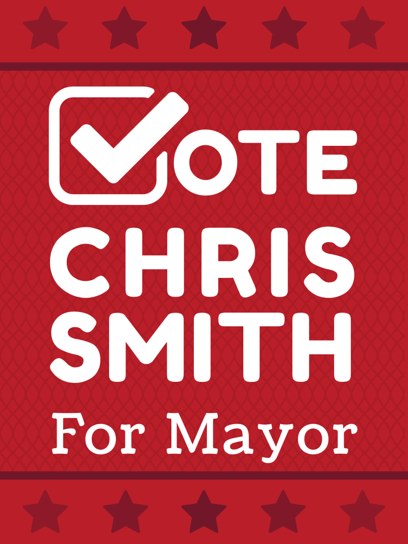 Campaign For Mayor Poster Template Preview 2