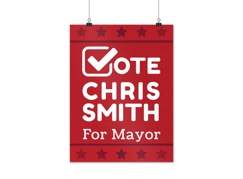 Campaign For Mayor Poster Template Preview 1