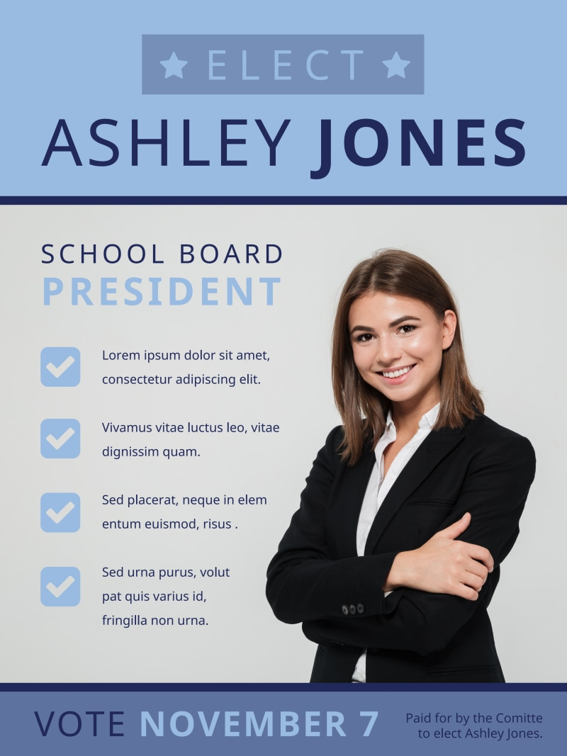 School Board Campaign Poster Template Preview 2