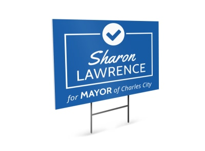 Mayor Campaign Yard Sign Template preview