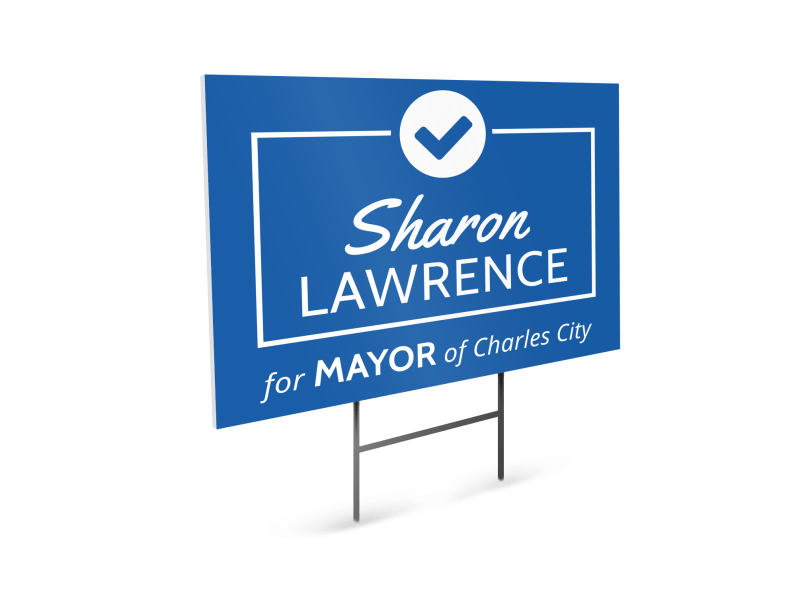 Mayor Campaign Yard Sign Template Preview 1