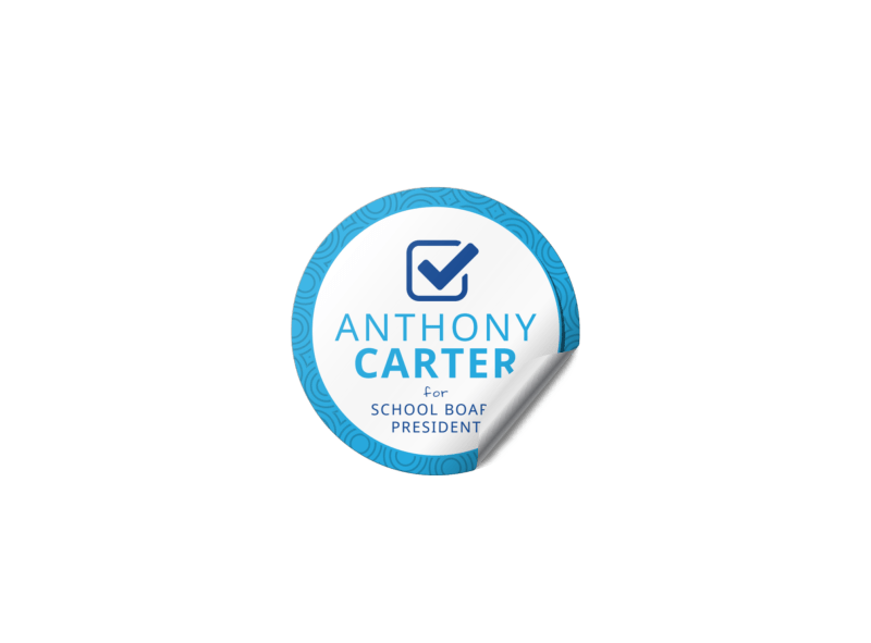 Awesome Campaign Sticker Template Preview 1