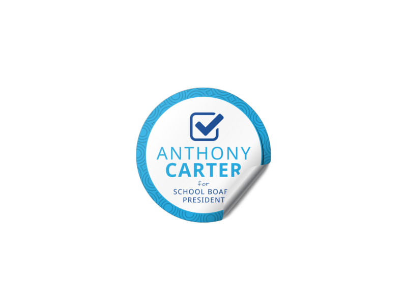 Awesome Campaign Sticker Template Preview 3
