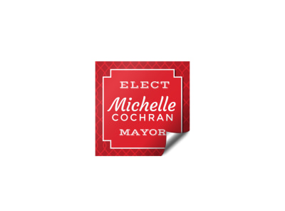Mayor Campaign Sticker Template preview