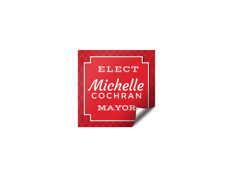 Mayor Campaign Sticker Template Preview 1