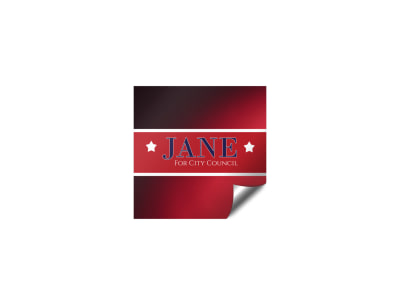 Flag Campaign Sticker Template