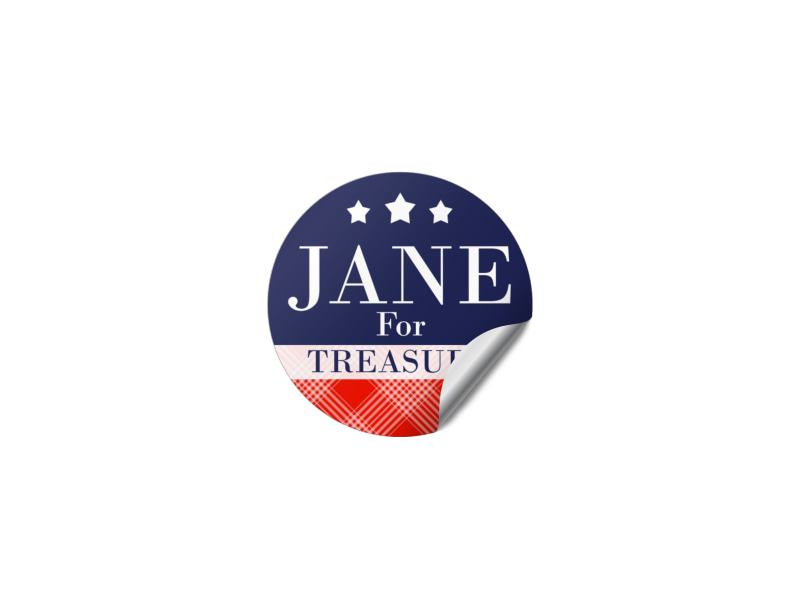 Classic Campaign Sticker Template