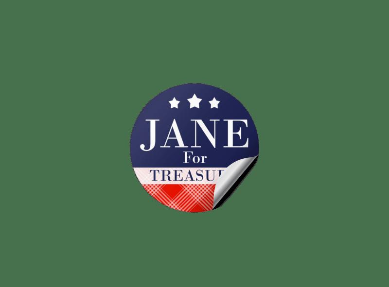 Classic Campaign Sticker Template Preview 1