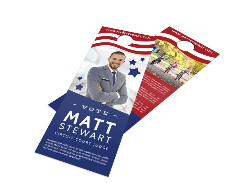 campaign vote door hanger template mycreativeshop