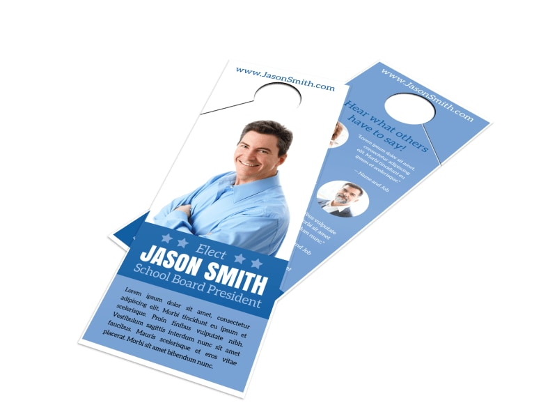 School Board Campaign Door Hanger Template