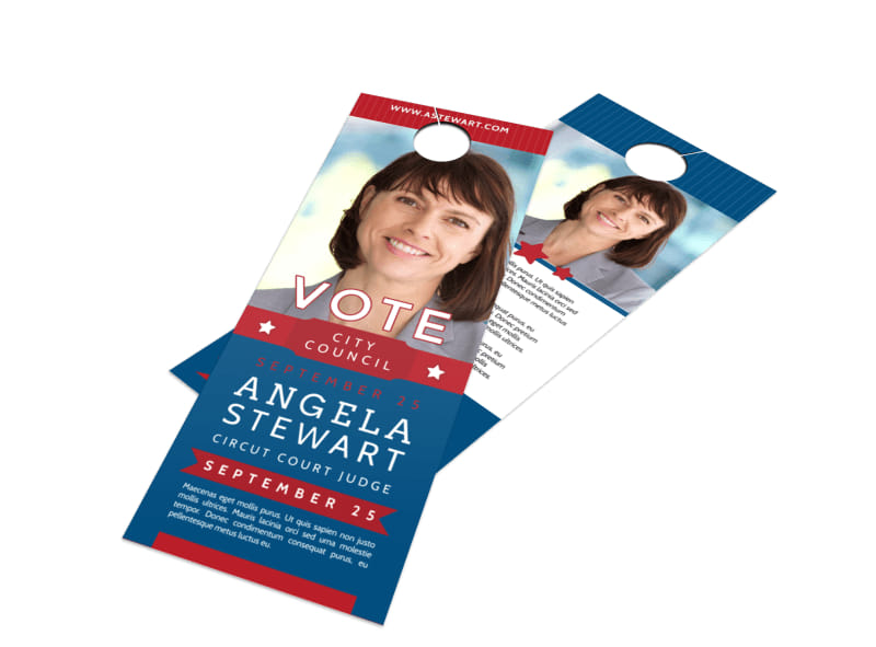 Vote City Council Door Hanger Template