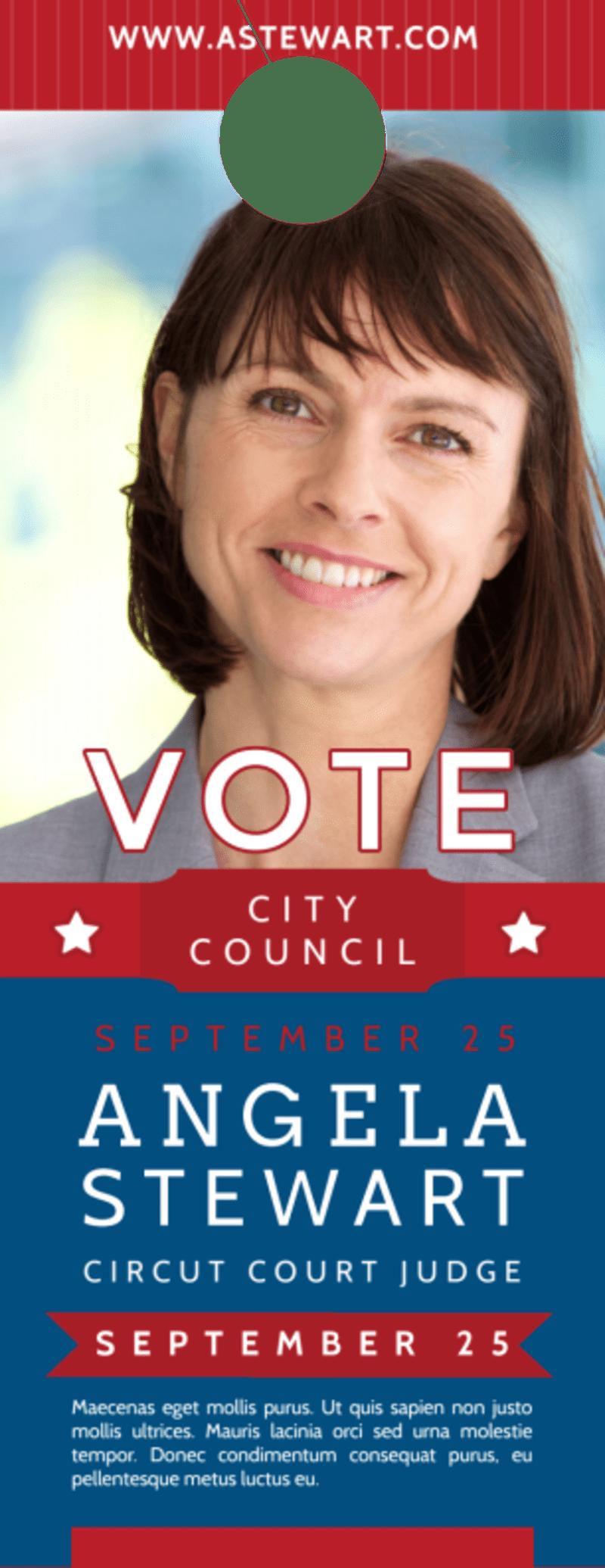 Vote City Council Door Hanger Template Preview 2