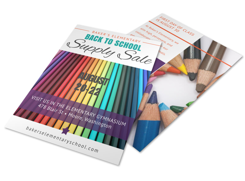 Elementary Back To School Flyer Template