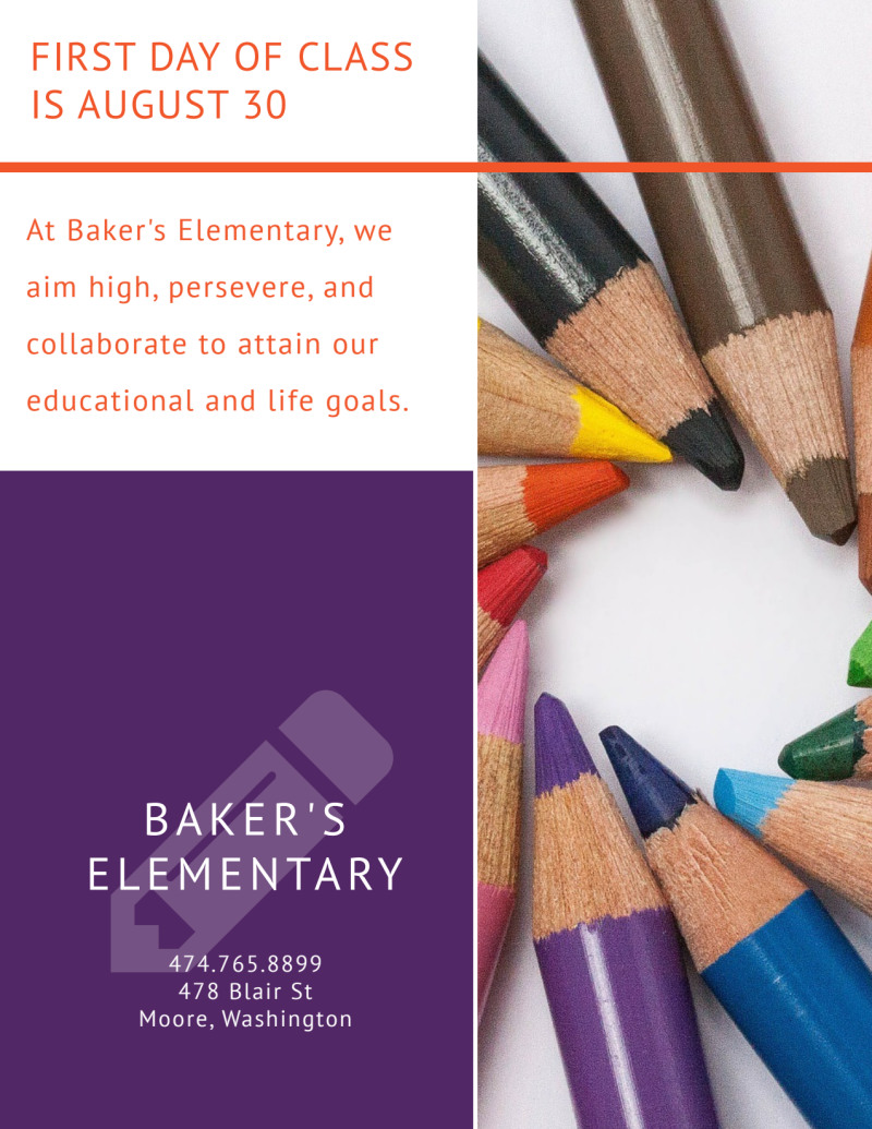 Elementary Back To School Flyer Template Preview 3