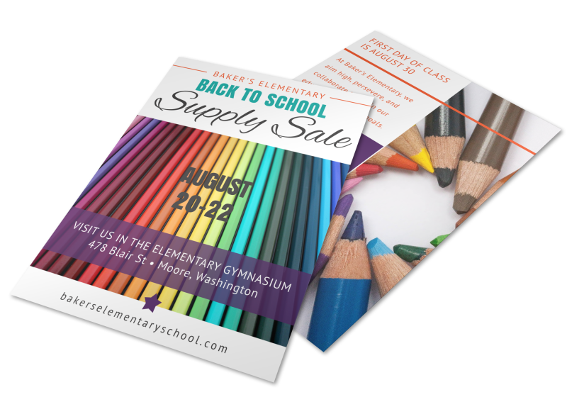 Elementary Back To School Flyer Template Preview 1